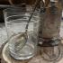 Набор для чаепития: подстаканник, стакан и ложечка.
