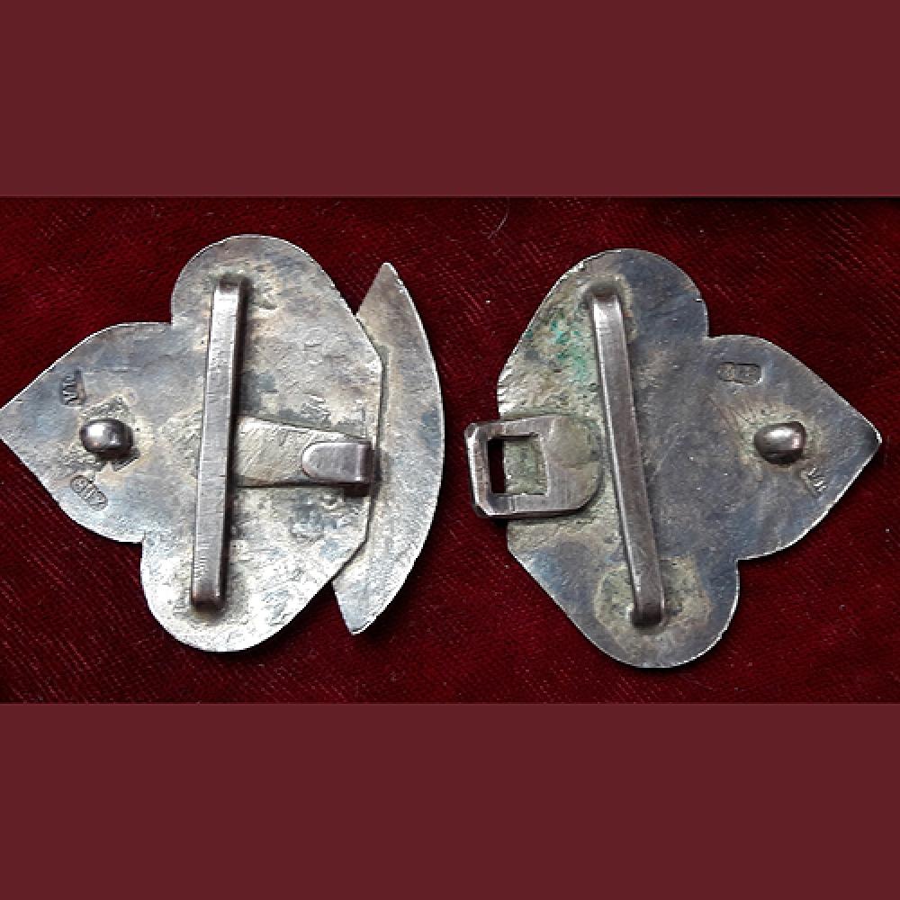 Серебряная пряжка от пояса