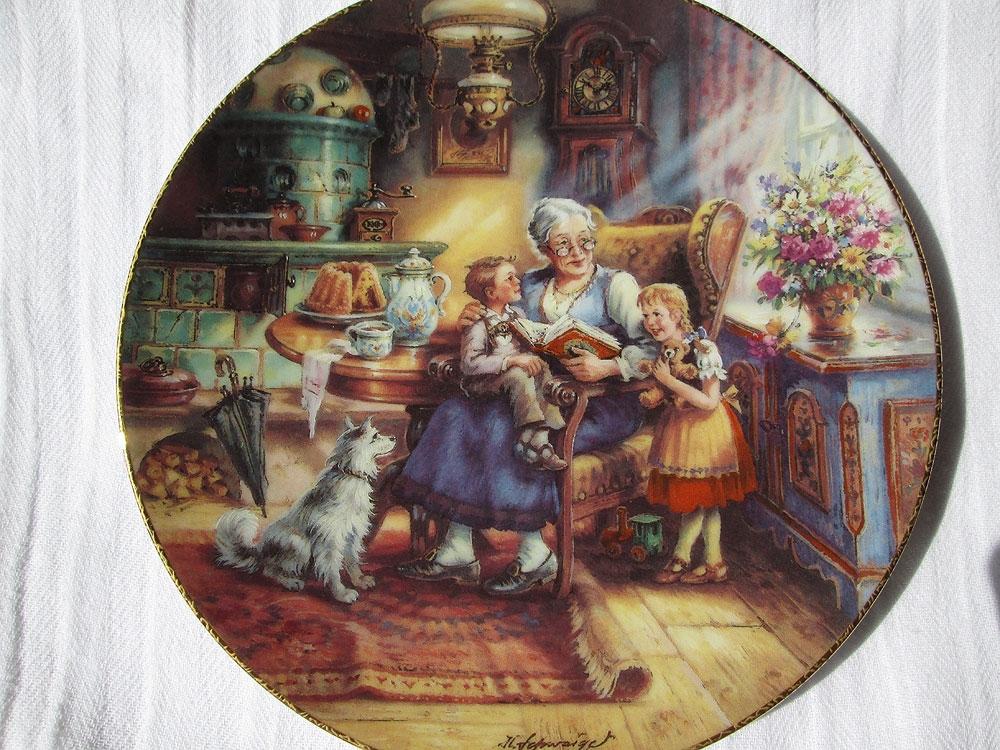 Пять декоративных тарелок.